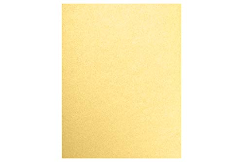 """LUXPaper 8.5"""" x 11"""" Paper for Crafts and Printing in 80lb. Gold Metallic, Scrapbook and Office Supplies, 50 Pack (Gold)"""