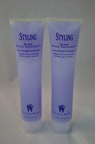 Graham Webb Styling Super Stick Straight Extra Strength Curl Relaxer 6 oz~ 2 PACK