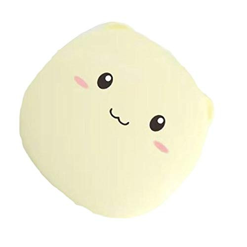 Cartoons Multifunction Power Bank Charger Mini Hand Warmer Portable Battery Pack Makeup Mirror Emergency Mobile External Battery Best Gift for Girlfriend,Yellow