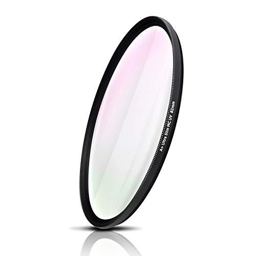 UV Filter mit MRC-Mehrfachvergütung, optisches Glas aus Japan, Ultra Slim, CNC-gefräste Aluminium-fassung. Für Canon Sony Nikon Fujifilm Olympus Sigma Tamron Pentax Leica (82mm)