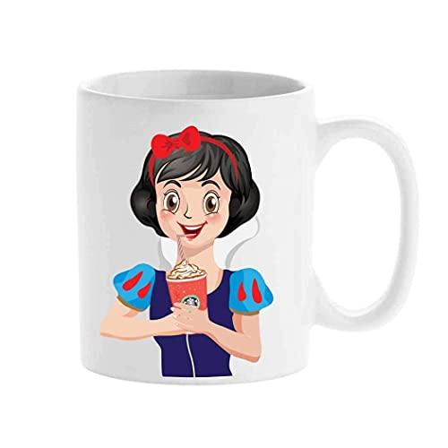 Taza personalizada, Starbucks Cartoon Mug Blancanieve, Disney Princess Crea tu taza personalizada de taza de té
