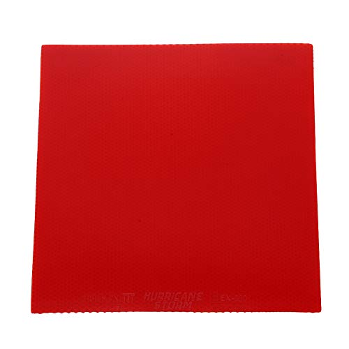 Cubierta de Goma para Tenis de Mesa Funda Protectora de Goma de Ping Pong Cubierta de Repuesto para Raquetas de Tenis de Mesa(Rojo)