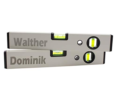 Wasserwaage mit Name - Personalisierbar - Gravur - Text - 30cm - Handwerker - Maurer - Geschenk