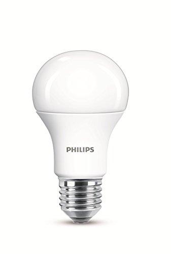 Philips LED 11W (75W) E27Edisongewinde Warmweiß Licht Glühbirne, Frostglas, –, 2Stück, E27, 11Watt, 2Stück