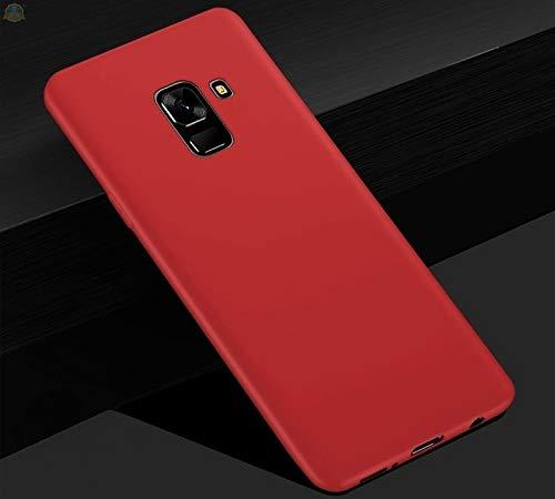 Kit Capa Tpu Fosca E Película Para Samsung Galaxy A6 Plus Tela 6.0Capinha Ultra Fina Slim Material Fosco e Película De Vidro Temperado 3d Full Cover Anti Impacto - Danet (Vermelho)