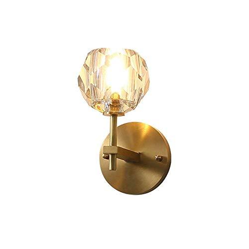 AERVEAL Lámpara de Pared Pequeña Moderna con Pantalla de Globo de Cristal...