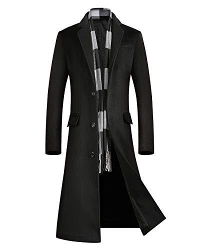 Mens Full Length Wool Overcoat