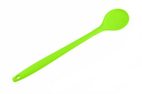 Kochlöffel 30 cm, grün, Kochblume Edition, Silikon