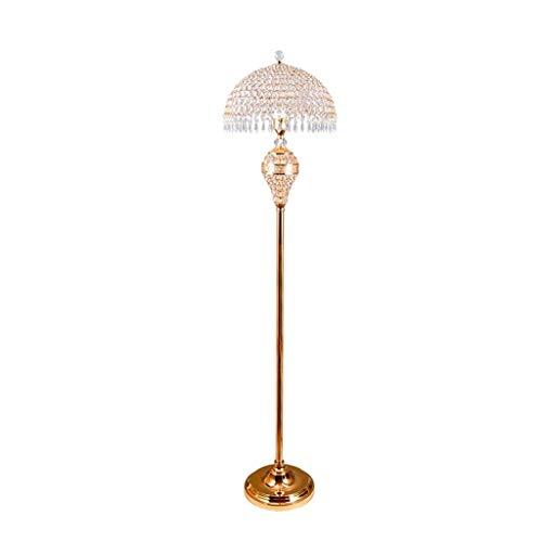 Verstelbare vloerlamp gepolijst verchroomd bolvormig doorschijnend kristal zilver staande lamp nachtlampje voor moderne woonkamer (voet schakelaar) Home verlichting