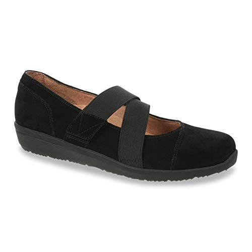 Vionic Women's Shelby - Mary Jane Flats with Concealed Orthotic Arch Support Black 9 Medium US