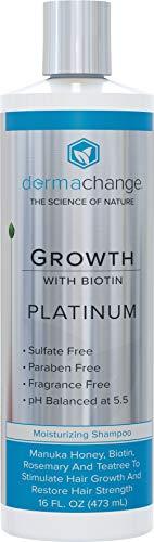 Platinum Hair Growth Moisturizing Shampoo - With Argan Oil, Biotin & Tea Tree Extract - Supports Hair Regrowth - Hair Loss Treatments (16 oz) - Made in USA