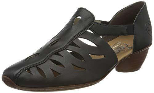 Rieker Frühjahr/Sommer 43776, Zapatos de Tacón para Mujer, Azul (Navy 14), 37 EU