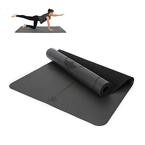 LIUBOLI yogamat - dubbelzijdige PU-yogamat - ultradun / opvouwbaar / vrij van PVC en andere schadelijke chemicaliën - voor fitnessapparaten thuis (185 X 68 X 0 45 cm)