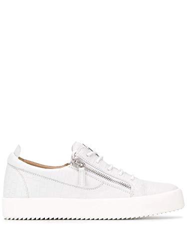 Giuseppe Zanotti Luxury Fashion Design Herren RU70000196 Weiss Leder Sneakers | Frühling Sommer 20