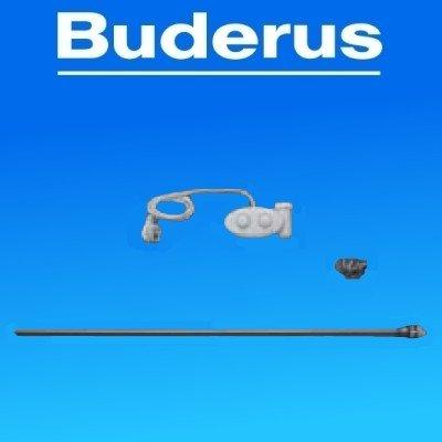 Buderus Elektroheizpatrone / Heizstab für Badheizkörper mit Raumthermostat, Leistung:1500 W. L = 1200 mm