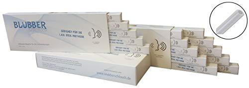 Blubberschlauch Silikonschlauch für die Stimmtherapie und das Stimmtraining, 25 Stück, hochwertiger 10x14mm Logopädie Schlauch aus platinvernetzte Silikon, transparent