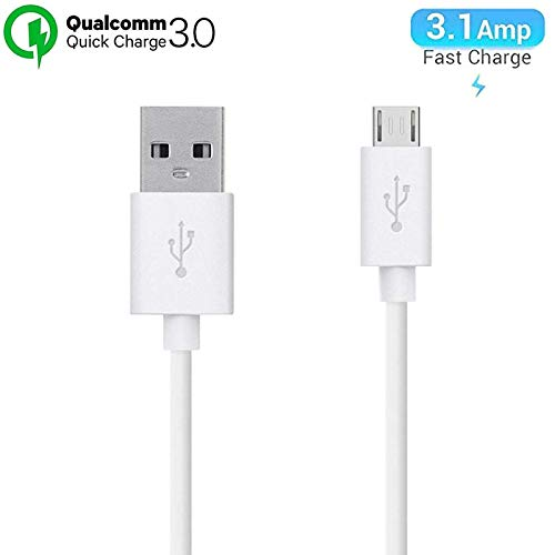 Quick USB for Oppo A5s Original Like USB Cable   Micro USB Data Cable  Rapid Charge Charger Cable   Sync Quick Fast Charging Cable   Charger Cable   Android V8 Cable (3.0 Amp, 1 Meter,RE, White)