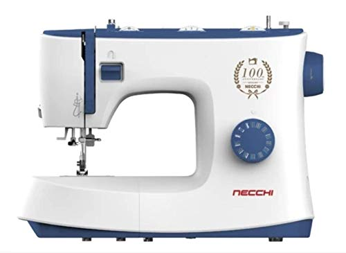 Necchi K432A - Máquina de coser, interior de aluminio fundido a presión, carcasa de ABS, azul, normal