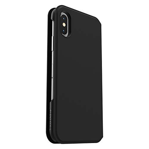 OtterBox 77-62738 für Apple iPhone X/Xs, Schlanke Soft Touch Folio-Schutzhülle, Strada Via Serie, Schwarz