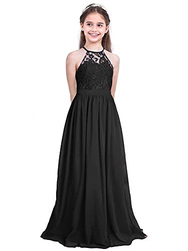 IEFIEL Vestido Largo de Fiesta para Niña Vestido Elegante de Dama de...