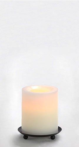 Candle Impressions Premium Flammenlose Echtwachskerze WEISS; Höhe 10,2; Durchmesser 8,2cm; mit Vanilleduft, Betriebszeit 1000 Stunden, inkl. integrierte Zeitschaltuhr/Timer (5 Stunden), LED Echtwachskerze, LED Kerze, Lampe, Adventskranz, Weihnachten, Laterne, Licht, Windlicht, Tischlicht, Tischdekoration, Batteriebetriebene Kerze, Elektrische Kerze