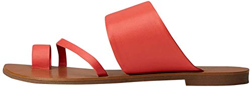 find. Asymmetric Toe-Thong Sandalias con Punta Abierta, Rojo, 39 EU
