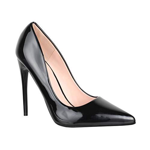 Elara Zapato de Tacón Alto Mujer Punta Aguda Chunkyrayan