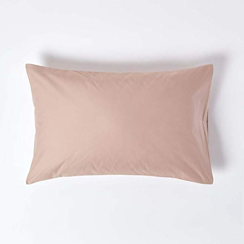 HOMESCAPES Funda de Almohada Housewife 100% algodón Egipcio 1000 Hilos 48x74 cm Color Beige