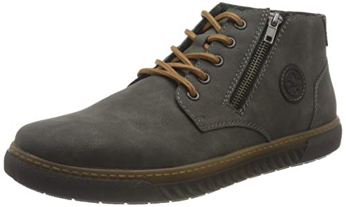 Rieker Herren 37931 Mode-Stiefel, grau, 46 EU