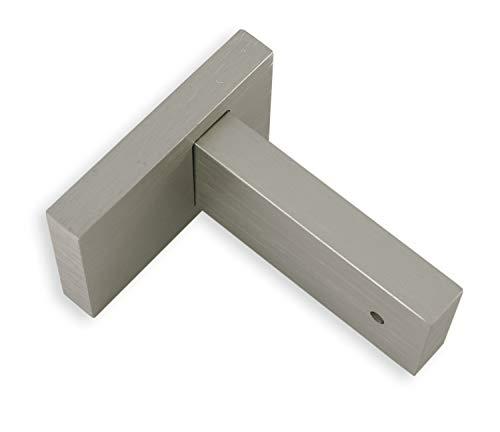 Gardinia Träger für Luxor rechteckig Stahl-gebürstet 8 cm