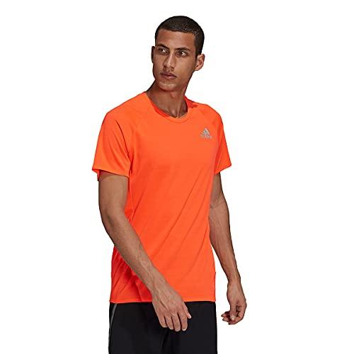 adidas Men's Standard Runner Tee, Solar Red, Small