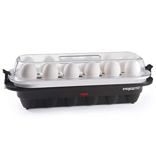 National Presto 04633 Presto Electric Egg Cooker 12, Black and White (Renewed)