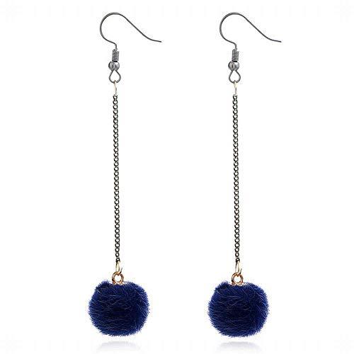 E-Z Stilvolle Einfachheit Geschenkidee für Frauen Ohrringe Schöne Plüsch Federball Ohrringe Ohren, Minimalistisch Lang, Nordic Beauty Accessoires