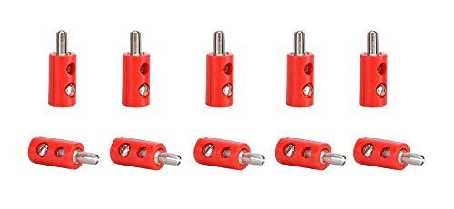 Viessmann 6871 Stecker mit Querloch 10 Stk. rot