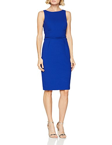 comma Damen 81.806.82.4636 Kleid, Blau (Electric Blue 5616), 36