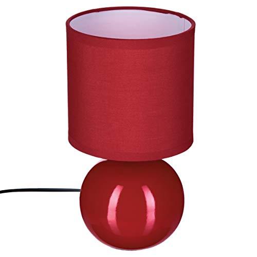 Lampe mit Keramikkugel, Rot