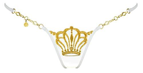 Lucky Cheeks Damen Mini String Queen of Love Ivory Edition Elfenbein Gr. S
