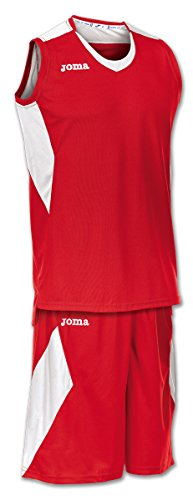 Joma Space Set de Basket, Hombres, Rojo/Blanco, XL