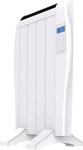 SIMMON Radiador Eléctrico Bajo Consumo Ready Warm 800 Thermal 4 Elementos, 600 W, De Pared o pie, 3 Modos, Temporizador, Mando a Distancia, Pantalla LED, Protección sobrecalentamiento, Ultrafino