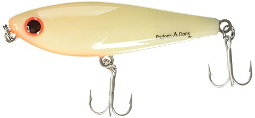 Bomber Lures Badonk-A-Donk High Pitch Saltwater Grade, (3-1/2-Inch) - Bone/Orange Throat