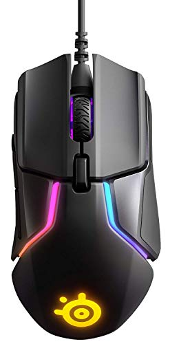 SteelSeries Rival 600 – Gaming-Maus – 12.000 CPI TrueMove3+ Dual Optical Sensor – 0,05 Lift-off-Distanz – Gewichtssystem – RGB-Beleuchtung