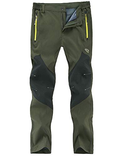 Freiesoldaten Uomo All'aperto Pantaloni Arrampicata Cargo Softshell Leggero Traspirante Impermeabile Pantaloni