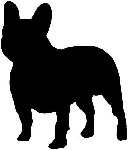 Samunshi® Französische Bulldogge Hunde Aufkleber Autoaufkleber Sticker in 6 Größen und 25 Farben (8,5x10cm schwarz)