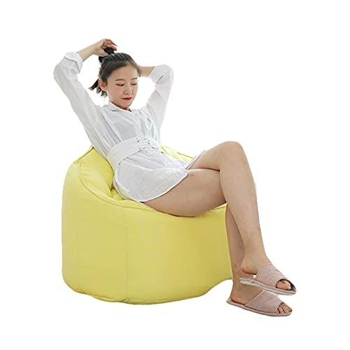 Puf grande para uso en interiores y exteriores, perfecto para sala de estar o juegos con tres bolsillos laterales para jardín, tumbona, sofá