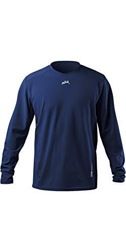 Zhik Mens T-Shirt à Manches Longues résistant à l';Eau Tee Top Steel Blue - Easy Stretch Léger Respirant UV Sun