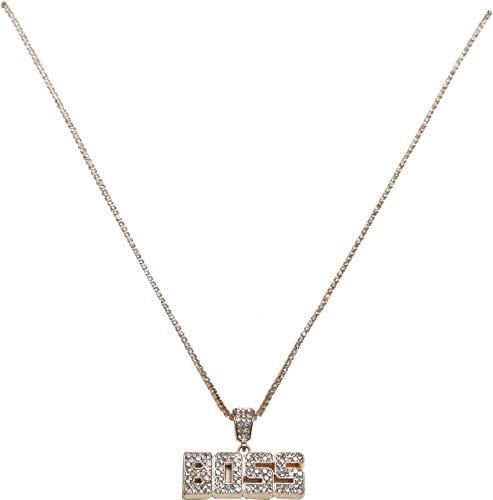 Urban Classics Unisex_Adult Boss Necklace Cuff Links, Gold, EinheitsSize