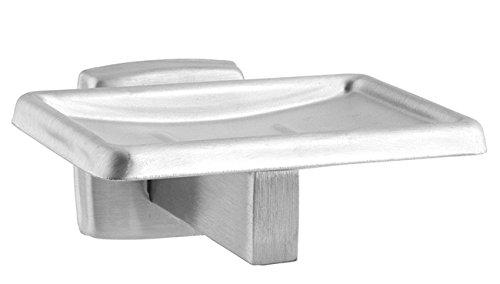 HEXOTOL Porta Sapone a Parete Acciaio Inossidabile, Acciaio Inox, Gri, 10.6x5.2x10.6 cm