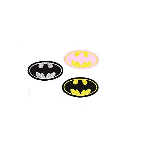 ewkft 3 Stks/set Batman Logo geborduurd ijzer naaien op patch Fancy jurk kostuum T Shirt Bag Badge