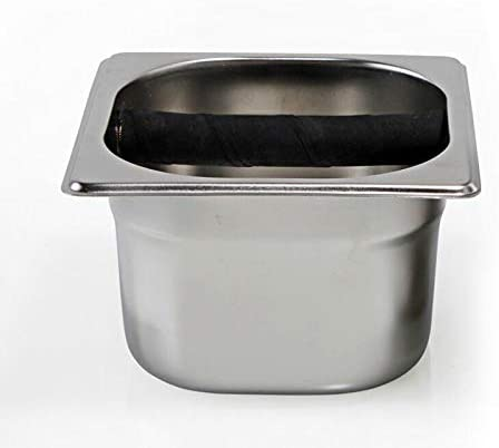 Coffee Knock Box Stainless Steel Wood drablade Box Coffee Residu Bucket Grind Waste Bin (Color : A) A