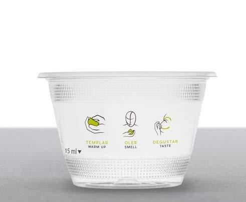 Elaia Zait Vaso de cata de Aceite de Oliva de PLA compostable y Biodegradable. 500 uds. (500)